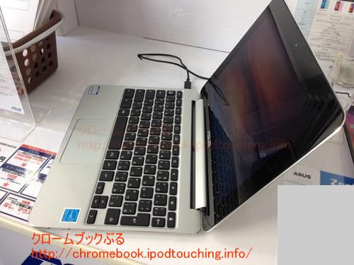Chromebook Flip C100PA側面サイドから