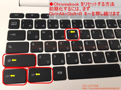 chromebook初期化キーボード操作